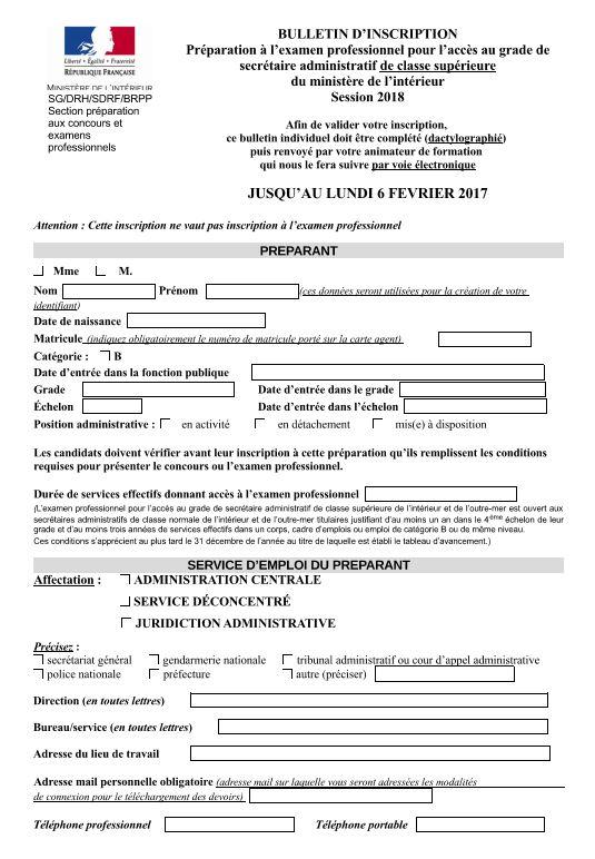 administration centrale prparation au concours interne et lexamen pro sacn session 2019