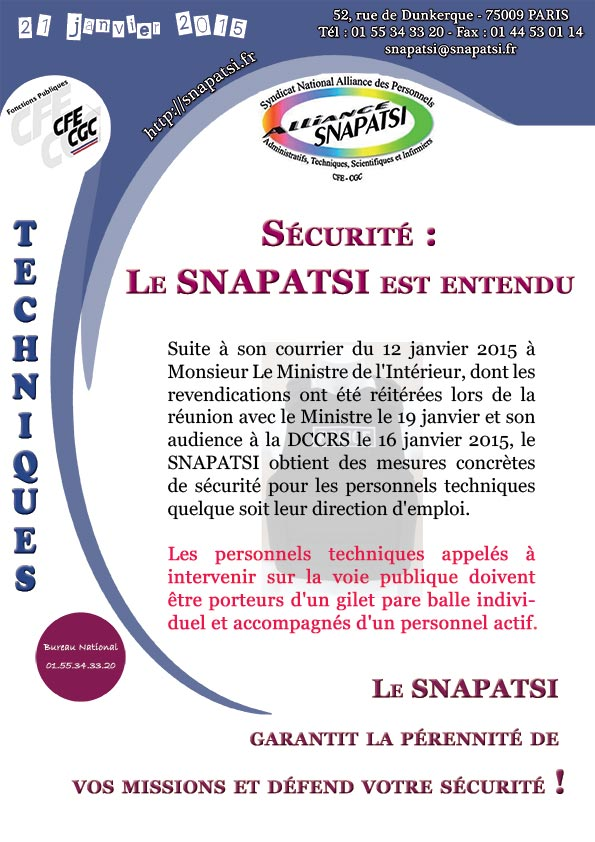 tract securite-personnels-techniques-SNAPATSI-ENTENDU