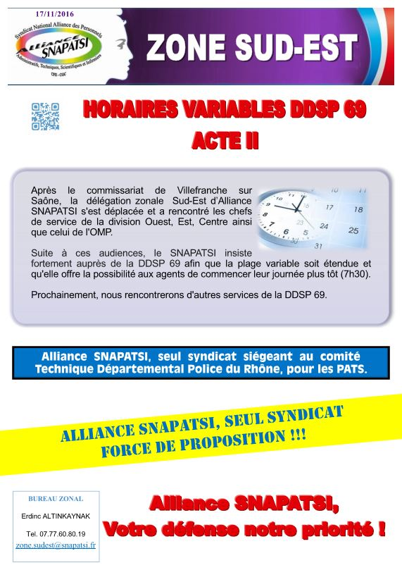 Horaires variables