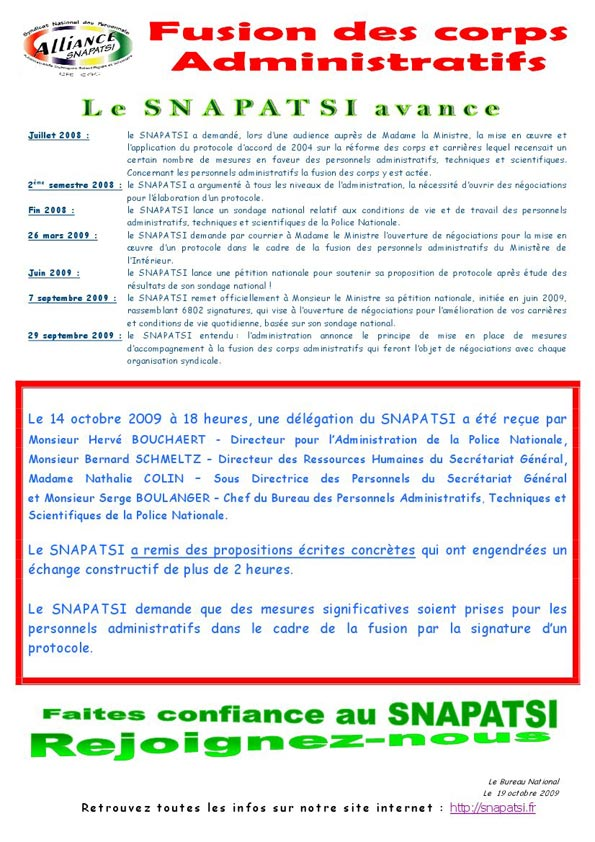 Tract fusion des corps administratifs