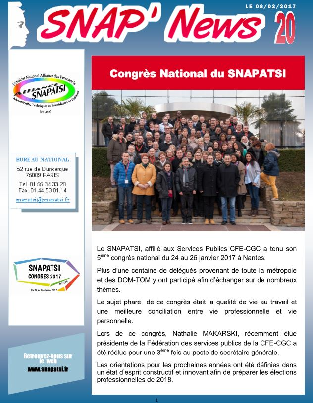 SNAP Congrès national