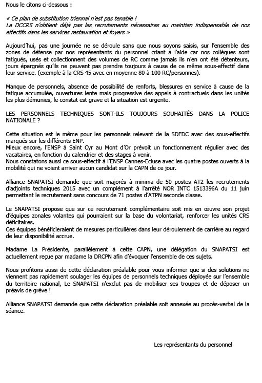 Actions Syndicales