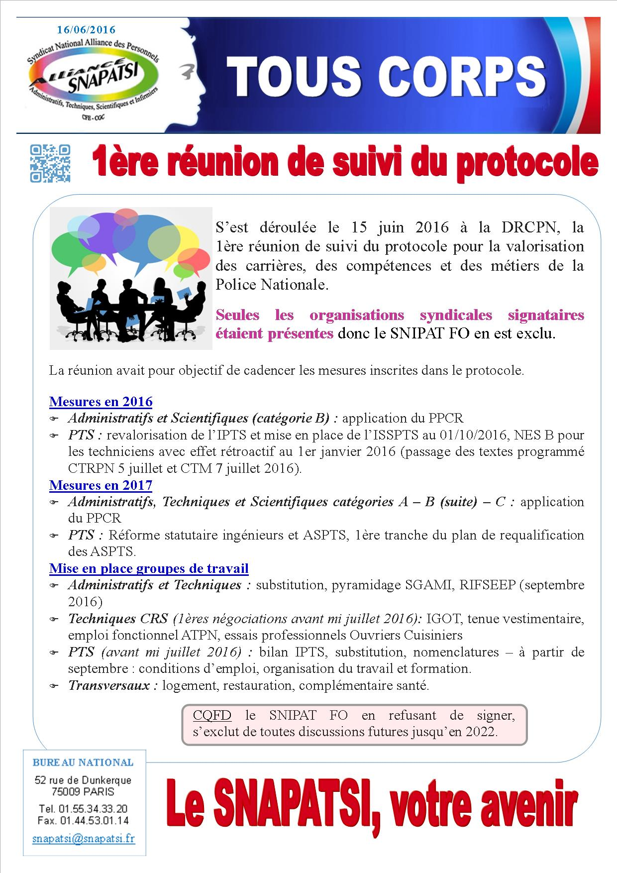 Tract commun juin 2016 creation direction centrale formation