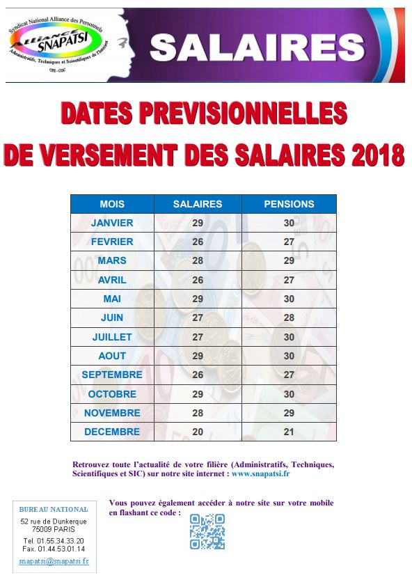 Salaire - Grille salaire alliance police ...