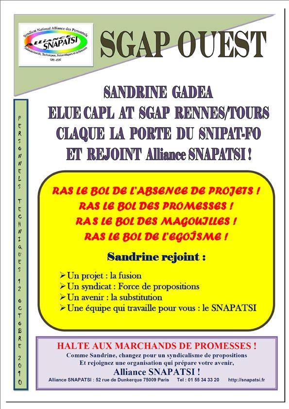 Tract SGAP Ouest